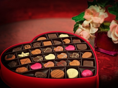 Valentine's day candy box, sample 4:3 photo